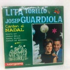 Discos de vinilo: EP LITA TORELLO I JOSEP GUARDIOLA CANTEN EL NADAL. Lote 278214788