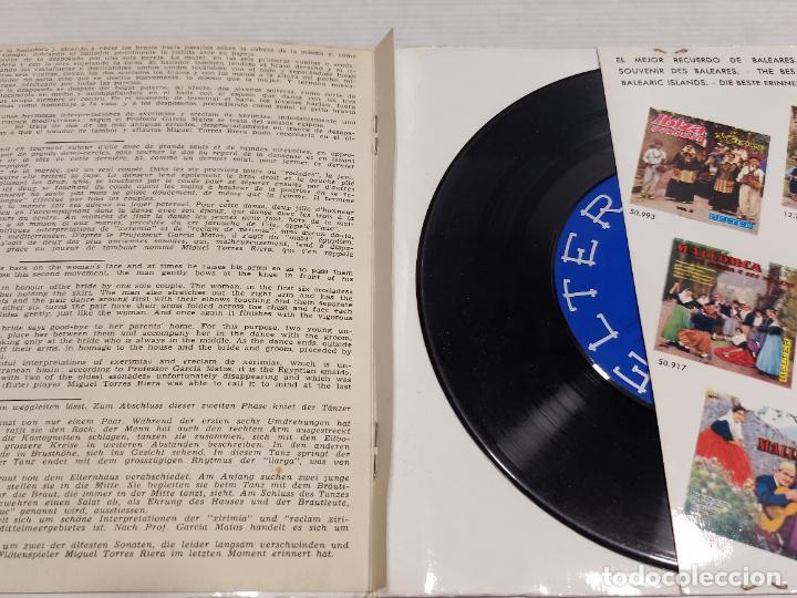 Discos de vinilo: IBIZA Y SU FOLKLORE / CANTOS Y DANZAS VOL 1º / EP-GATEFOLD - BELTER-1962 / MBC. ***/*** - Foto 3 - 278231343