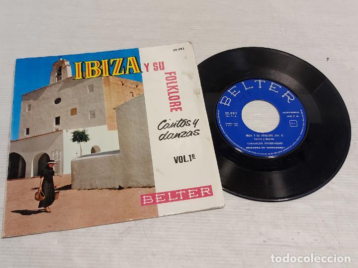 IBIZA Y SU FOLKLORE / CANTOS Y DANZAS VOL 1º / EP-GATEFOLD - BELTER-1962 / MBC. ***/*** (Música - Discos de Vinilo - EPs - Country y Folk)