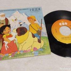 Discos de vinilo: HEIDI / MATTETE GORAN - OSHIETE / SINGLE - CBS-1975 / MBC. ***/***. Lote 278231953