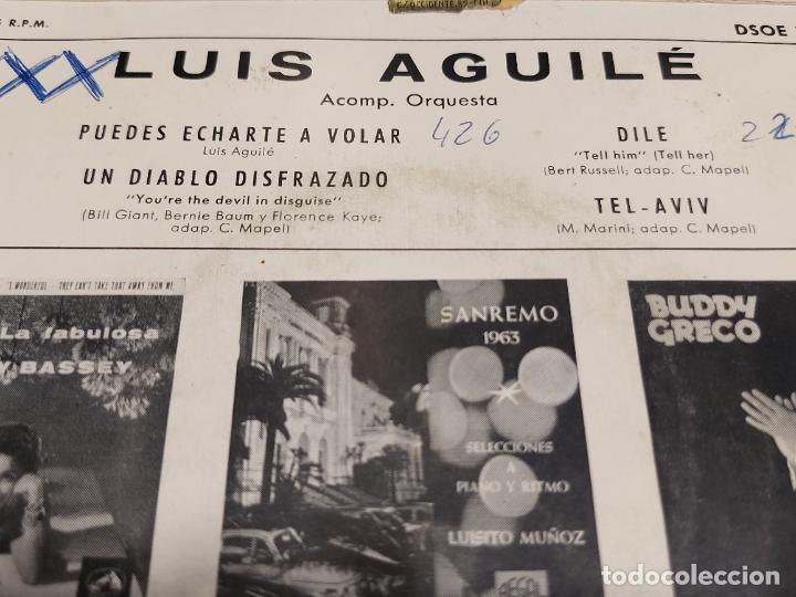 Discos de vinilo: LUIS AGUILÉ / PUEDES ECHARTE A VOLAR + 3 / EP - ODEON-1963 / MBC. ***/*** - Foto 3 - 278232338