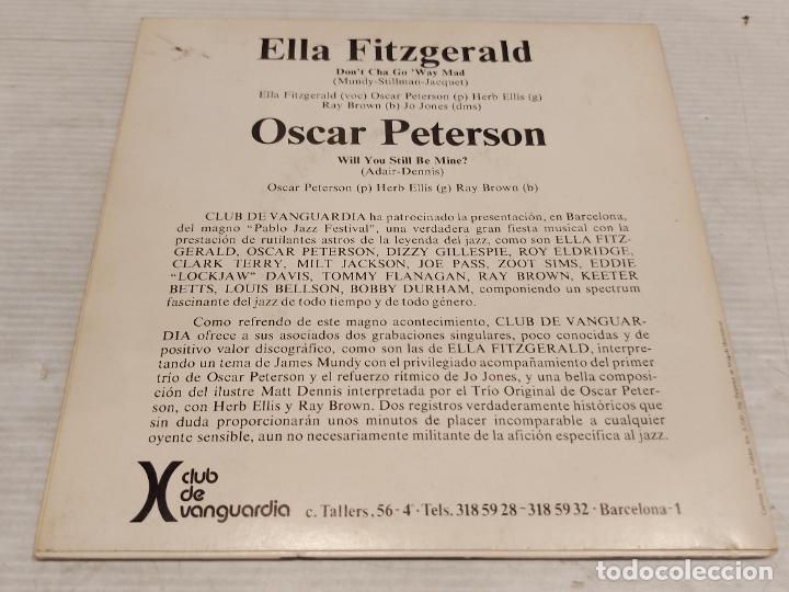 Discos de vinilo: ELLA FITGERALD Y OSCAR PETERSON / SINGLE-PROMO - VERVE-1973 / MBC. ***/*** - Foto 2 - 278233608