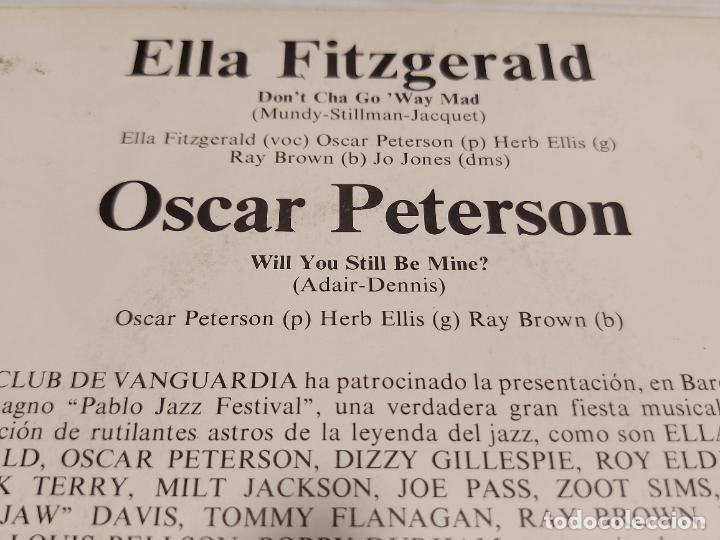 Discos de vinilo: ELLA FITGERALD Y OSCAR PETERSON / SINGLE-PROMO - VERVE-1973 / MBC. ***/*** - Foto 3 - 278233608