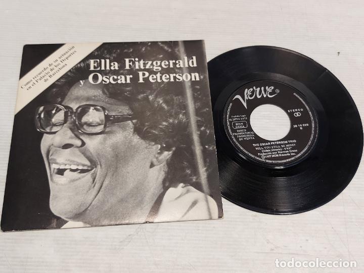 ELLA FITGERALD Y OSCAR PETERSON / SINGLE-PROMO - VERVE-1973 / MBC. ***/*** (Música - Discos - Singles Vinilo - Jazz, Jazz-Rock, Blues y R&B)