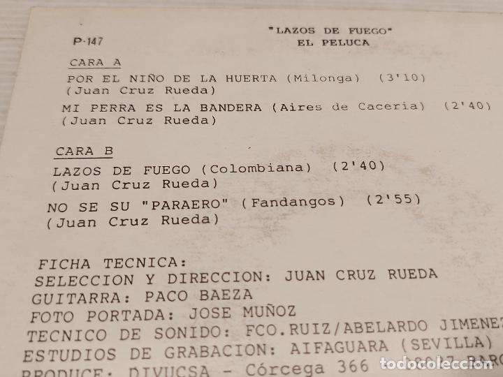 Discos de vinilo: EL PELUCA / LAZOS DE FUEGO / EP.PROMO - PERFIL-1989 / MBC. ***/*** - Foto 3 - 278234438