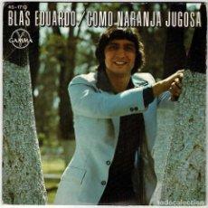 Discos de vinilo: BLAS EDUARDO - COMO NARANJA JUGOSA / NIÑA LINDA DE MI CORAZÓN. SINGLE. Lote 278235073