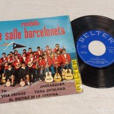 Discos de vinilo: RONDALLA LA SALLE BARCELONETA / TU + 4 / EP - BELTER-1964 / MBC. ***/***. Lote 278235313