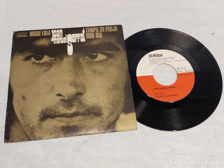 JOAN MANUEL SERRAT / MARE LOLA + 2 / SINGLE - EDIGSA-1969 / MBC. ***/*** (Música - Discos - Singles Vinilo - Cantautores Españoles)