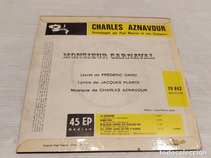 Discos de vinilo: CHARLES AZNAVOUR / LA BOHEME + 3 / EP BARCLAY / S.F. / MBC. ***/*** - Foto 2 - 278236163