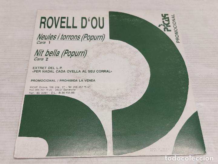 Discos de vinilo: ROVELL DOU / NEULES I TORRONS-NIT BELLA / SINGLE-PROMO - PICAP-1989 / MBC. ***/*** - Foto 2 - 278266003