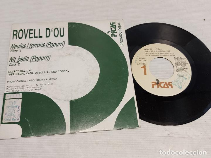 ROVELL D'OU / NEULES I TORRONS-NIT BELLA / SINGLE-PROMO - PICAP-1989 / MBC. ***/*** (Música - Discos - Singles Vinilo - Otros estilos)