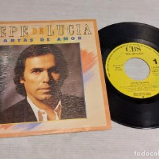 Discos de vinilo: PEPE DE LUCÍA / CARTAS DE AMOR / SINGLE PROMO - CBS / SOLO 1 CARA - 1987 / MBC. ***/***. Lote 278267793