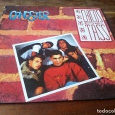Discos de vinilo: CHICOS DE TASS - GANGSTER - MAXISINGLE ORIGINAL EPIC 1990. Lote 278281533