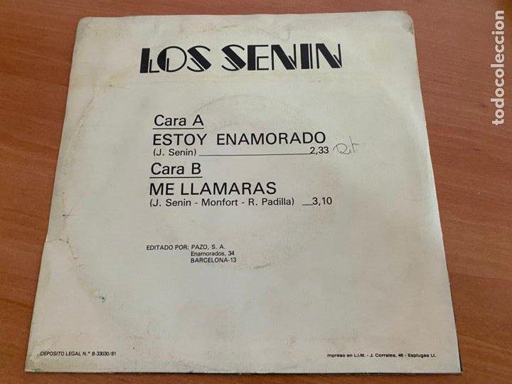 Discos de vinilo: LOS SENIN (ESTOY ENAMORADO) SINGLE 1991 ESPAÑA PROMO (EPI24) - Foto 3 - 278284478
