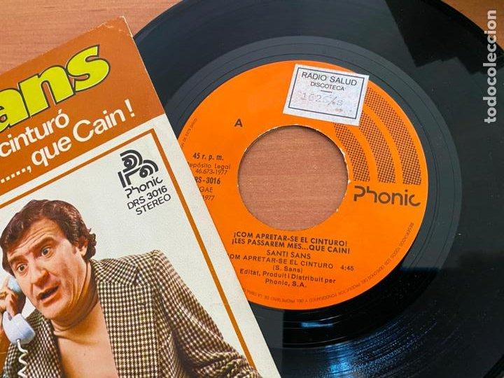 Discos de vinilo: SANTI SANS (COM APRETAR-SE EL CINTURO) SINGLE 1977 ESPAÑA (EPI24) - Foto 2 - 278285083