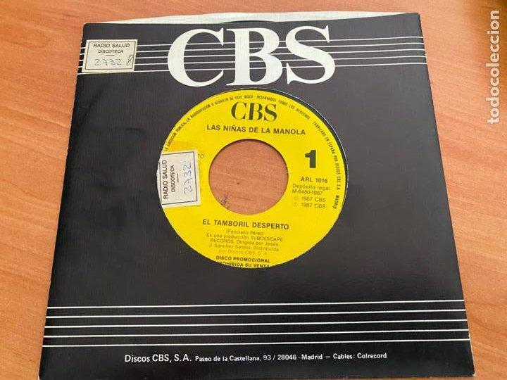 Discos de vinilo: LAS NIÑAS DE MANOLA (EL TAMBORIL DESPERTO) SINGLE 1987 ESPAÑA PROMO (EPI24) - Foto 2 - 278285748