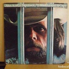 Discos de vinilo: JOHN AUSTIN PAYCHECK ---- 11 MONTHS AND 29 DAYS. Lote 278286303