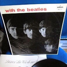 Discos de vinilo: BEATLES PRIMERA EDICION LP WITH THE BEATLES TORREON GOTICO EMI ODEON ESPAÑA MUY BUENA CONSERVACION. Lote 278322848
