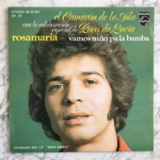 Discos de vinilo: SINGLE CAMARÓN DE LA ISLA CON PACO DE LUCÍA. Lote 278328593