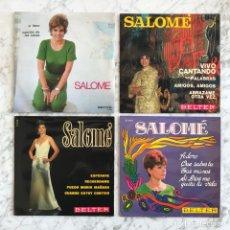 Discos de vinilo: COLECCIÓN DE 10 SINGLES DE SALOME. NUEVOS, SIN PONER. Lote 278328773