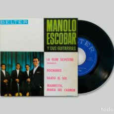 Discos de vinilo: MANOLO ESCOBAR Y SUS GUITARRAS – LA FLOR SILVESTRE (MARGARITA). Lote 278329208
