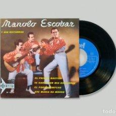 Discos de vinilo: MANOLO ESCOBAR Y SUS GUITARRAS – EL PRIMER BAUTIZO. Lote 278329238
