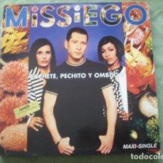 Discos de vinilo: MISSIEGO CACHETE, PECHITO Y OMBLIGO. Lote 278339178