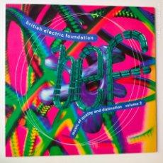 Discos de vinilo: BRITISH ELECTRIC FOUNDATION- MUSIC OF QUALITY AND DISTINCTION VOLUME 2- UK LP 1991- EXC.. Lote 278340813