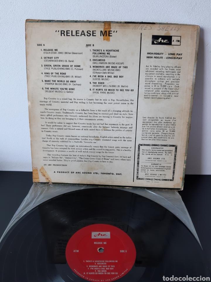 Discos de vinilo: MUY RARO! RELEASE ME. VARIOS COUNTRY. CANADA. A730. - Foto 2 - 278340903