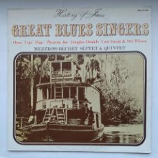 Discos de vinilo: GREAT BLUES SINGERS. HISTORY OF JAZZ. MEZZROW-BECHET SEPTET & QUINTET. LP. TDKDA1. Lote 278341498