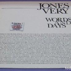 Discos de vinilo: JONES VERY - WORDS AND DAYS - LP. Lote 278342358