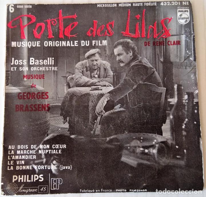 JOSS BASELLI - PORTE DE LILAS PHILIPS - 1957 (Música - Discos de Vinilo - EPs - Bandas Sonoras y Actores)