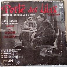 Discos de vinilo: JOSS BASELLI - PORTE DE LILAS PHILIPS - 1957. Lote 278344118