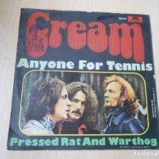 Discos de vinilo: CREAM, SG, ANYONE FOR TENNIS + 1, AÑO 1968. Lote 278344798