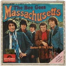 Discos de vinilo: THE BEE GEES - MASSACHUSETTS / BARKER OF THE U.F.O. SINGLE. Lote 278345223