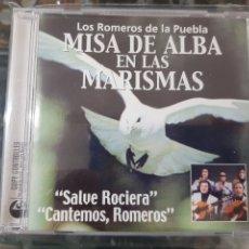 Discos de vinilo: LOS ROMEROS DE LA PUEBLA - MISA DE ALBA EN LAS MARISMAS - SALVE ROCIERA, CANTEMOS ROMEROS - CD 2004. Lote 278341573