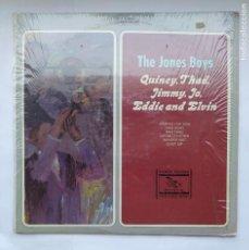 Discos de vinilo: THE JONES BOYS. QUINCY, TAHD, JIMMY, JO, EDDIE AND ELVIN. ARCHIVE OF FOLK & JAZZ MUSIC. LP. TDKDA1. Lote 278349813