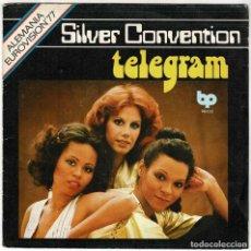 Discos de vinilo: SILVER CONVENTION - TELEGRAM / MIDNIGHT LADY. SINGLE. Lote 278350258