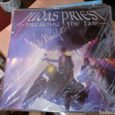 Discos de vinil: JUDAS PRIEST,BREAKING THE LAW.FIRMA HALFORD. Lote 278354623