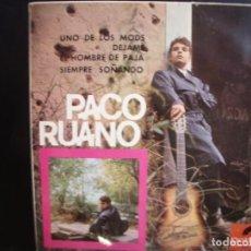 Discos de vinilo: PACO RUANO- UNO DE LOS MODS. EP.. Lote 278368688