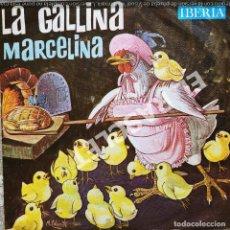Discos de vinilo: MAGNIFICO SINGLE DE CUENTOS INFANTILES : LA GALLINA MARCELINA. Lote 278372033