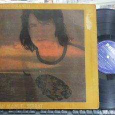 Discos de vinilo: SERRAT LP MEDITERRÁNEO COLOMBIA ESCUCHADO CARPETA DOBLE. Lote 278388803