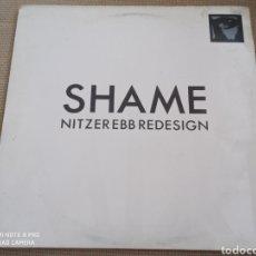 "Discos de vinilo: NITZER EBB - SHAME REDESIGN (MIX 1) (12"", SINGLE). Lote 278386108"