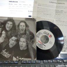 Discos de vinilo: LEGIÓN SINGLE PROMOCIONAL BAG FULL OF MEAT 1992 + HOJA PROMO. Lote 278403168
