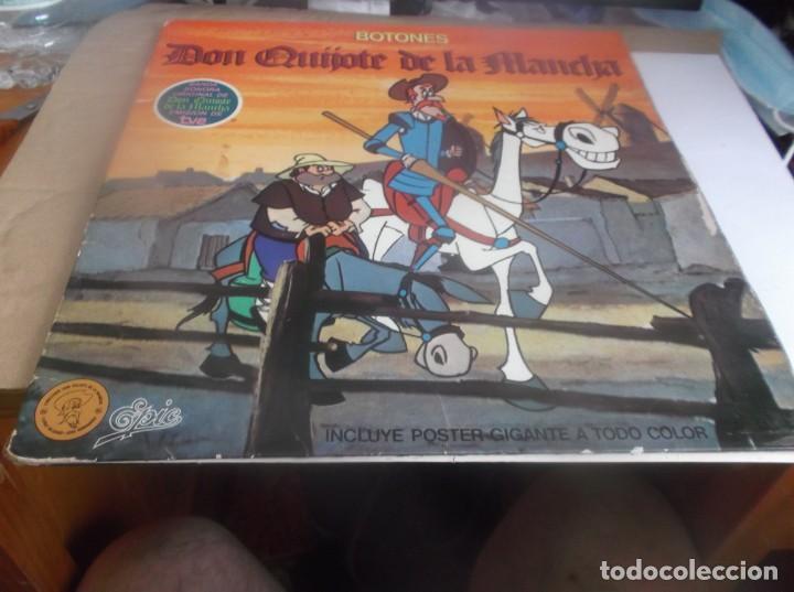 LP- BOTONES DON QUIJOTE DE LA MANCHA- TVE DIBUJOS ANIMADOS LP 1979 EPIC CARPETA ABIERTA (Música - Discos - LPs Vinilo - Música Infantil)