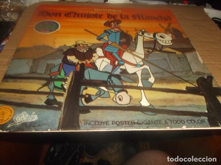 Discos de vinilo: LP- BOTONES Don Quijote de la Mancha- TVE DIBUJOS ANIMADOS LP 1979 Epic CARPETA ABIERTA - Foto 3 - 278405703