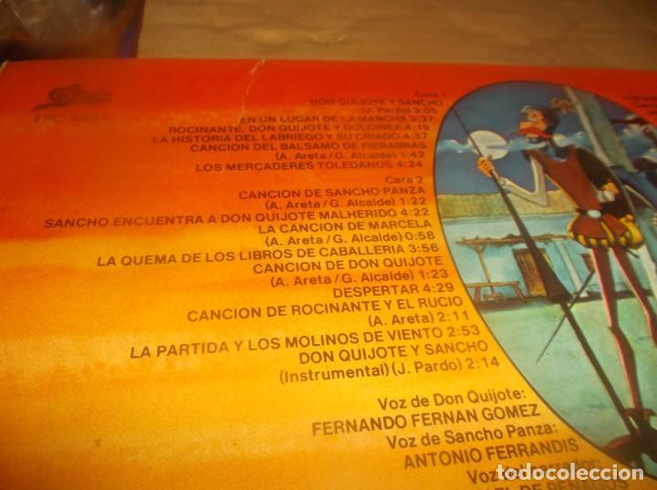 Discos de vinilo: LP- BOTONES Don Quijote de la Mancha- TVE DIBUJOS ANIMADOS LP 1979 Epic CARPETA ABIERTA - Foto 7 - 278405703