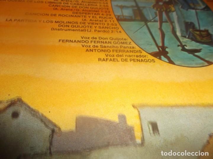 Discos de vinilo: LP- BOTONES Don Quijote de la Mancha- TVE DIBUJOS ANIMADOS LP 1979 Epic CARPETA ABIERTA - Foto 8 - 278405703