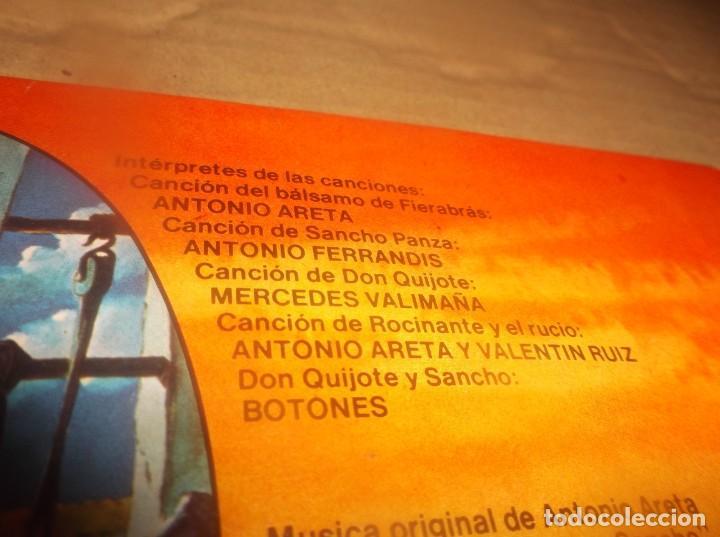 Discos de vinilo: LP- BOTONES Don Quijote de la Mancha- TVE DIBUJOS ANIMADOS LP 1979 Epic CARPETA ABIERTA - Foto 9 - 278405703