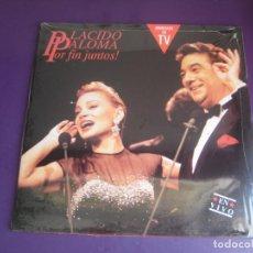 Discos de vinilo: PLACIDO DOMINGO - PALOMA SAN BASILIO POR FIN JUNTOS! (EN VIVO) - DOBLE LP HISPAVOX 1991 PRECINTADO. Lote 278411053